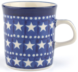 Bunzlau Straight Mug Small 150 ml Blue Stars