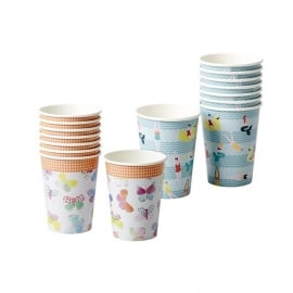 Rice 8 Paper Cups in Assorted Swimster or Butterfly Print