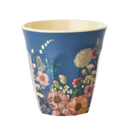 Rice Medium Melamine Cup - Flower Collage Print