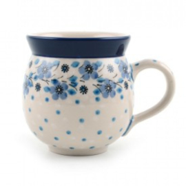 Bunzlau Farmers Mug 240 ml Blue White Love