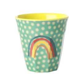 Rice Medium Melamine Cup with Rainbow and Stars Print