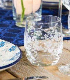 Bunzlau Water Glass Summer Breeze 300 ml -wit-