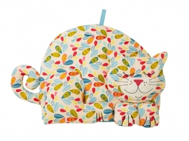 Ulster Weavers Shaped Tea Cosy Leaf Print Cat