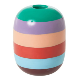 Rice Large Metal Candle Holder -Stripes- Follow the Call of the Disco Ball