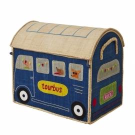 Rice Raffia Toy Baskets Happy Camper - large