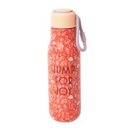 Rice Isolating Drinking Bottle with Orange Fall print - RVS