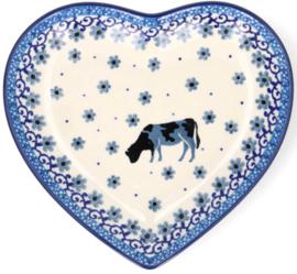 Bunzlau Heart Shape Dish Cow -Limited Edition-