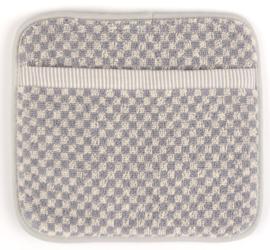 Bunzlau Kitchen Pot Holder Small Check Grey