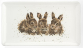Wrendale Designs 'Rabbit' Rectangular Tray