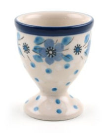 Bunzlau Egg Cup Blue White Love