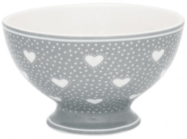 GreenGate Snack bowl Penny grey -stoneware-
