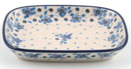 Bunzlau Tray Small 15 x 18,5 cm Blue White Love