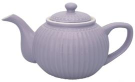 GreenGate Teapot Alice lavender -stoneware-