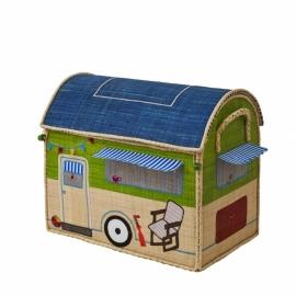 Rice Raffia Toy Baskets Happy Camper - medium