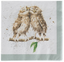 Wrendale Designs Cocktail Napkins What a Hoot