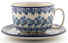 Bunzlau Cup & Saucer 350 ml Winter Garden