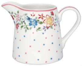 GreenGate Creamer Belle white -stoneware-