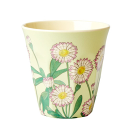 Rice Medium Melamine Cup - Daisy Print