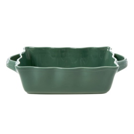 Rice Medium Stoneware Oven Dish in Forest Green