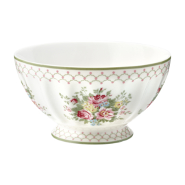 GreenGate French Bowl Extra Large Aurelia white -stoneware-