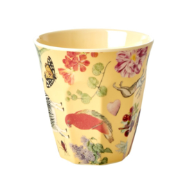 Rice Medium Melamine Cup with Creme Art Print