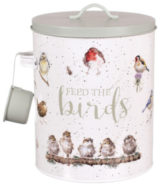Wrendale Designs Feed the Birds Tin -grey-