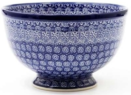 Bunzlau Bowl on Foot 22,5 cm Lace