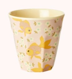 Rice Kids Small Melamine Cup with Goldfish Print