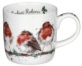 Wrendale Designs Rockin Robins Mug