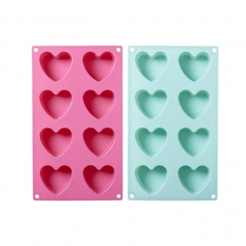 Rice Heart Shaped Silicone Baking Mold in Assorted Colors