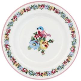 GreenGate Small Plate Ellie white -stoneware-