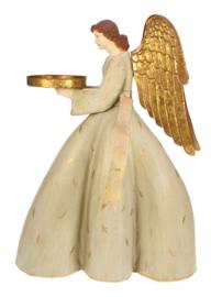 Meander Engel met schaal staand -kandelaar-