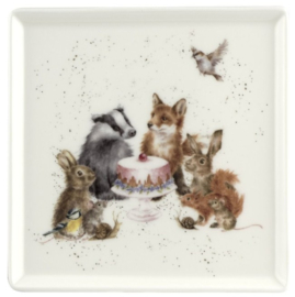 Wrendale Designs 'Woodland Party' Square Plate