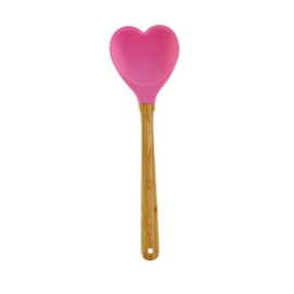 Rice Kitchen Silicone Heartshaped Spoon in Assorted Girlie Colors