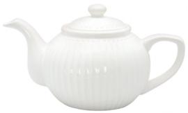 GreenGate Teapot Alice white -stoneware-