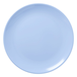 Rice Melamine Pizza Plate in Soft Blue