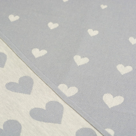 Bunzlau Tea Towel Hearts Grey