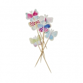 Rice 12 Butterfly Picks in Assorted Colors