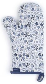 Bunzlau Oven Glove Indigo Lace