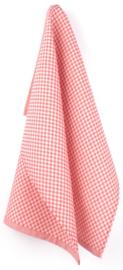Bunzlau Tea Towel Small Check Red