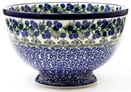 Bunzlau Bowl on Foot 22,5 cm Myrtille
