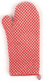 Bunzlau Oven Glove Small Check Red