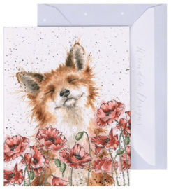 Wrendale Designs 'Poppy Field' miniature Card