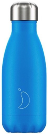 Chilly's Drink Bottle 260 ml Neon Blue