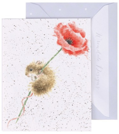 Wrendale Designs 'Poppy' miniature card
