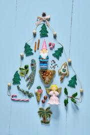 Rice Raffia Christmas Garland in Natural - 100 cm