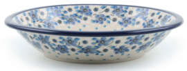 Bunzlau Plate Deep 21 cm Blue White Love