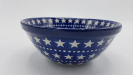 Bunzlau Bowl 14 cm Blue Stars