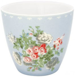 GreenGate Latte Cup Petricia pale blue -stoneware- *Limited Edition*
