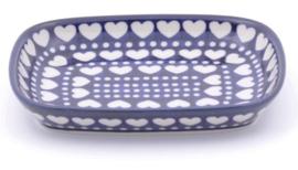 Bunzlau Tray Small 15 x 18,5 cm Blue Valentine